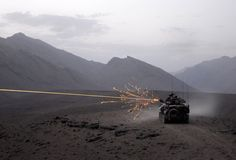 ASLAV engaging an insurgent position in southern Afghanistan.