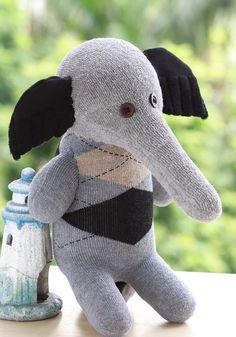 Child Friendly toy textile toy plush Elephant by Toyapartment