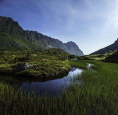 Ågvatnet Lake, Lofoten Islands, Norway