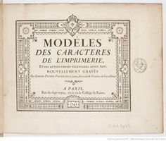 [Rococo design] Pierre Simon Fournier le Jeune. Title page for his first specimen…