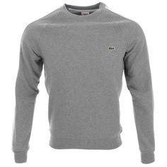 Lacoste Live Crew Neck Sweatshirt Jumper Grey @mainlinemenswear