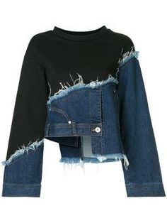 Recycle deconstructed upcycled denim pullover – UPCYCLING IDEAS # deconstructed Evil eye beads, that is … Denim Pullover, Pullover Outfit, Denim Jumper, Denim Skirt, Denim Blazer, Denim Purse, Fashion Design Inspiration, Inspiration Mode, Upcycling Fashion