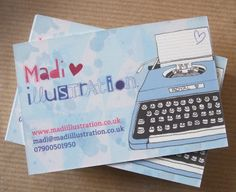 Madi Illustration - My new business cards! :]
