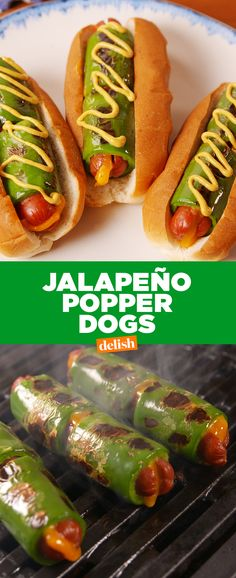Popper Dogs Never cooking our hot dogs another way again.Never cooking our hot dogs another way again. Fingerfood Recipes, Grilling Recipes, Cooking Recipes, Snack Recipes, Dessert Recipes, Healthy Grilling, Recipes Dinner, Grilling Sides, Picnic Recipes