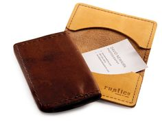 Business Card Holder   Rustico Leather