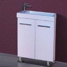 500 mm Space Saving Mini Vanity unit on Legs Small Bathroom, Bathrooms, Vanity Units, Space Saving, Filing Cabinet, The Unit, Legs, Storage, Mini