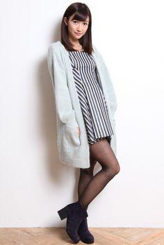 Lily Brown (Lily Brown) ★ Angola Long cardigan [LWNT144016] ★ ViVi official fashion mail order   NET ViVi CC