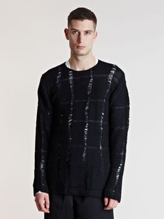 Comme des Garcons Homme Plus Mens Loosely Woven Sweater