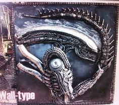 Alien Wall Art. Contact us at sales@steelartfactory.com for more information.