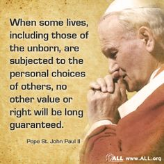When some lives become expendable for the convenience of others, no life is truly safe. #prolife #JPII