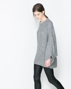 Image 3 of PONCHO SWEATER from Zara