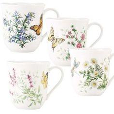 Lenox Butterfly Meadow Herbs Coffee Mugs - Set(s) Of 4