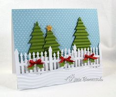 Holiday Fence and Trees