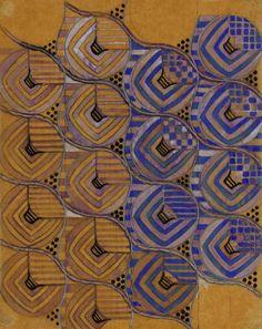 Margaret Macdonald Mackintosh, textile design, 1915-23. Drawing for chiffon. Photo © The Hunterian Museum and Art Gallery, University of Glasgow