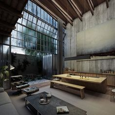 WEBSTA @ dezeen - These hyper-realistic renderings by visualisation studio VER depict a board-marked concrete house with factory-like glazing, which Mexican architecture studio Lázaro is planning to build in the city of Uruapan. Find out more on dezeen.com/architecture #architecture #renderings #concrete