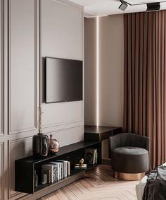 MODERN CLASSIC. BEDROOM on Behance Modern Classic Bedroom, Modern Classic Interior, Modern Luxury Bedroom, Modern Condo, Master Bedroom Interior, Classic Living Room, Luxurious Bedrooms, Condo Interior Design, Home Room Design
