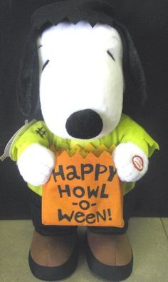 "Hallmark Halloween Plush 2009 Frankenbeagle - Peanuts Gang Techno Plush - #HTL6011 by Hallmark. $49.99. Requires 2 AA Batteries (Replaceable). Size: 6"" x 6.5"" x 11.25"". Plush toy with motion and sound. Plays eerie haunted house music.. Hidden off/on button.. Peanuts Gang Halloween Techno Plush Collection   Magic Motion and Sound  Don't be frightened by this creature...it's just our lovable Snoopy dressed up as Frankenbeagle. But where is his trusty companion, Woods..."