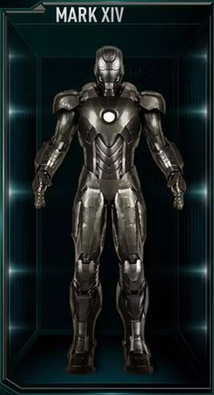 The Mark XIV was the last Advanced Iron Man Suit, and was the fourteenth suit built and created by Tony Stark, sometime after the events of The Avengers. Marvel Comics, Marvel Heroes, Marvel Cinematic, Marvel Avengers, Coleccionables Sideshow, All Iron Man Suits, Iron Man Action Figures, Iron Man Wallpaper, Iron Man Armor