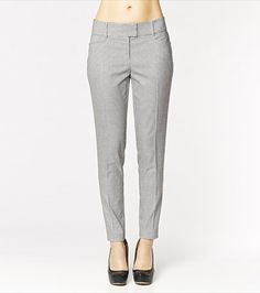 A check with a bite! These pants feature an elegant and subtle houndstooth print perfect for day or play! Pair them with a soft white blouse. #wishlist