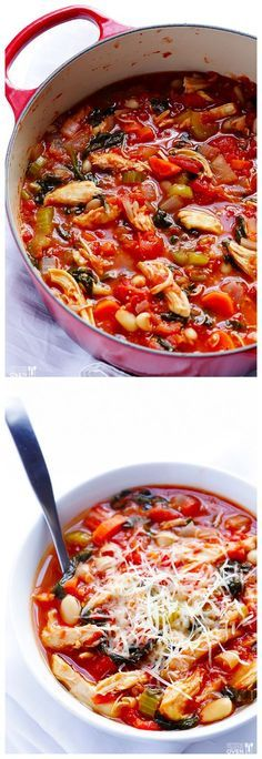Tomato Basil Chicken Stew Comforting Simple And Ready In Under 30 Minutes Gimmesomeovencom Soup Reci Healthy Recipes, Cooking Recipes, Healthy Soup, Oven Recipes, Yummy Recipes, Basil Chicken, Chicken Tomato Stew, Soup And Sandwich, Tomato Basil