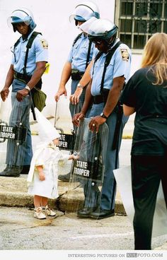 Ku Klux Klan rally, Atlanta, 1992  proof that you aren't born racist it is taught.