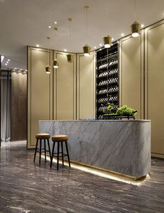 hotel door This is our daily lobby design ideas Reception Desk Design, Hotel Reception, Reception Counter, Reception Ideas, Lobby Interior, Luxury Interior, Kitchen Interior, Hotel Lobby Design, Cafe Bar