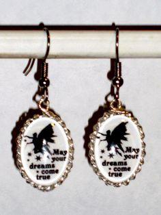 Ohrringe Elfe Damen Hänger Ohrschmuck Modeschmuck ohne Stein Glas Durchzieher