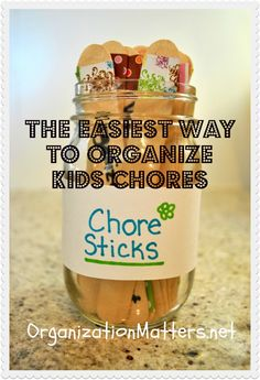 How a professional organizer organizes her own kids' chores. Simple and inexpensive to do.