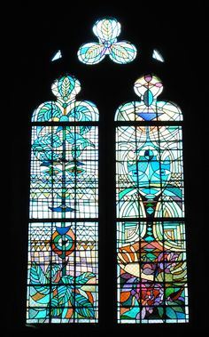 Stained glass windows by Jean Cocteau at Saint Maximin church, Metz. The windows are truly beautiful and show the relevance of this art form today. Jean Cocteau, Stained Glass Windows, Art Forms, Glass Art, Abstract, France, Beautiful, Glass, Mosaics