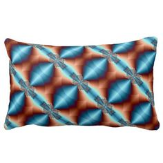 Psychedelic 74 Fractal Pattern 13x21 Throw Pillow.