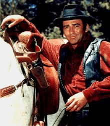 """The Virginian - television's first 90-minute western series was loosely based on Owen Wister's 1902 novel.  James Drury's character went for its entire 9 seasons simply known as """"The Virginian"""", and no other name was ever mentioned. My all-time favorite Western tv series, and I still watch it occasionally on DVD."""