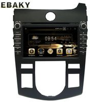 Black 1024*600 Quad Core 16G 8Inch Pure Android 5.1.1 Car Radio for KIA SHUMA Auto Air-Conditioner version 2008-2012 DVD Player