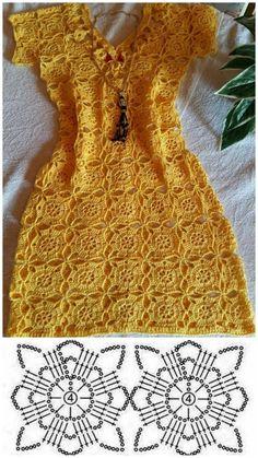 Crochet Baby Dresses 88479 A work show Crochet Beach Dress, Crochet Girls, Crochet Blouse, Cute Crochet, Crochet Lace, Knit Dress, Crochet Dresses, Crochet Summer, Crochet Designs