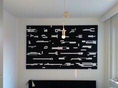 Black white vertical horizontal line