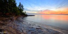 Five Mile Point Sunset Lake Superior