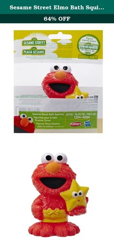 Sesame Street Elmo Bath Squirter. Elmo is wearing his swim trunks and ready to play! This collectible Sesame Street Elmo squirt toy is sure to make bath time lots of fun. Squeeze the Elmo figure underwater to fill up, then squeeze again to send water jetting across the tub! Sesame Street and associated characters, trademarks and design elements are owned and licensed by Sesame Workshop. Hasbro and all related terms are trademarks of Hasbro.
