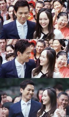 Wallace Chung & Tiffany Tang Tiffany Tang Luo Jin, Wallace Chung, Abc Shows, Asian Love, Chinese Actress, Drama Movies, My Sunshine, Laos, Strapless Dress Formal