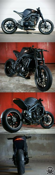 TRIUMPH SPEED TRIPLE INSPIRADA NO BATMAN