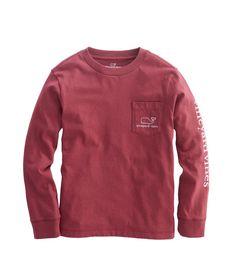 Boys Long-Sleeve Vintage Whale Graphic T-Shirt color//crimson size//xl