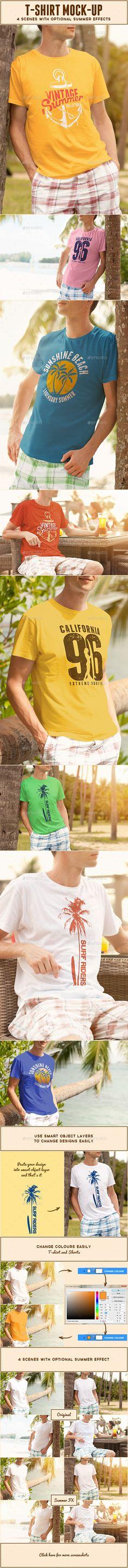 Male T-shirt Mock-up #design Download: http://graphicriver.net/item/male-tshirt-mockup/11561067?ref=ksioks