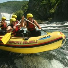 "Discovered by Trav Trover, ""Just a short drive from Zagreb takes you to some of the finest rafting in the Balkans along the Una River. Be sure to go with a certified company like Bijeli sport,"" at Bihać, Bosnia and Herzegovina."