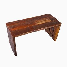 Custom Made Reclaimed Redwood Coffee Table Or Bench