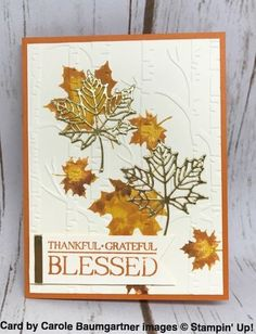 #17 Four Fabulous Fall Cards That Sparkle And Shine - 20 Years, 20 Posts
