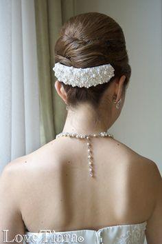 ボンネ【パール&ビジュー】 Hair Arrange, Bridal Suite, Wedding Looks, Headpiece, Bridal Hair, Veil, Wedding Hairstyles, Hair Makeup, Bride