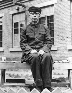 50-years- old Henry Pu-Yi, the last Manchu emperor of China, seen in a communist prison in Fushan, China