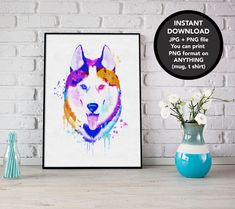 Excited to share the latest addition to my #etsy shop: Husky Watercolor, Dog Watercolor, Husky Print, Husky Poster, Husky Gift, Dog Print, Husky Download here: http://etsy.me/2D1YA0j #art #print #digital #huskywatercolor #dogwatercolor #huskywatercolor #wallart #husky