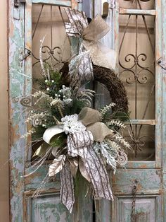 Excited to share this item from my shop: Christmas Wreaths, Christmas Door Decor, Hydrangea Christmas Wreath Christmas Wreaths To Make, Diy Christmas Tree, Silver Christmas, Holiday Wreaths, Christmas Holidays, Winter Wreaths, Christmas Garlands, Xmas Trees, Christmas Movies