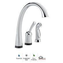 View the Delta 4380T-dst Pilar Side Spray Touch Kitchen Faucet with Touch2O and Diamond Seal Technologies at FaucetDirect.com.