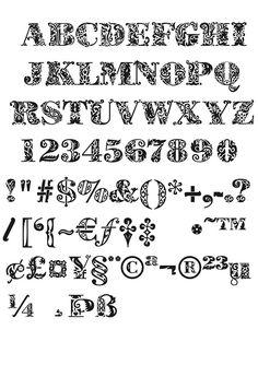 An ornamental font.