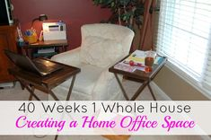 40 Weeks 1 Whole House Organization: Creating a Home Office Space - You do not need a designated office space to generate a full-time income from home. I think the fact that I don't have a home office space makes me more organized. | Organize 365